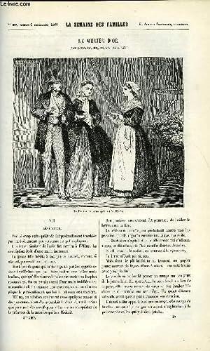 LA SEMAINE DES FAMILLES 4EME ANNEE N°49 - LE MURIER D'OR VII DE AMEDEE AUFAUVRE, LETTRES ...