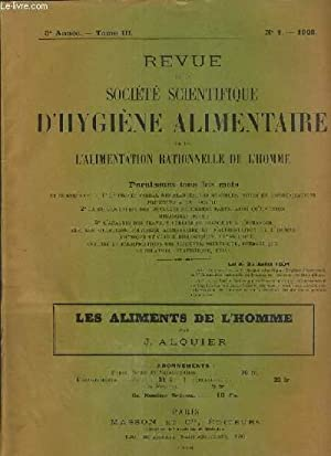 REVUE DE LA SOCIETE SCIENTIFIQUE D'HYGIENE ALIMENTAIRE ET DE L'ALIMENTATION RATIONNELLE DE ...