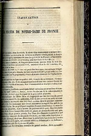 INAUGURATION DE LA STATUE DE NOTRE-DAME DE FRANCE + SERMON SUR LES AVANTAGES DE L'AUMONE pour ...