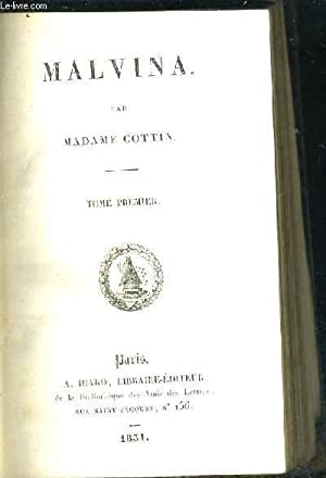MALVINA - TOME 1: MADAME COTTIN