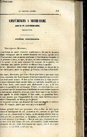 CONFERENCES A NOTRE DAME : 6e conferenceLe peché originel.: P. LACORDAIRE