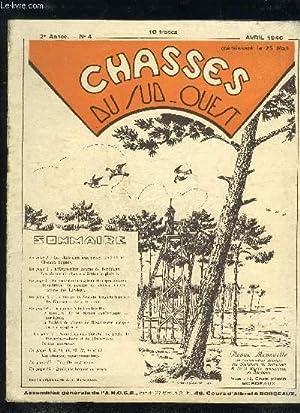 CHASSES DU SUD OUEST N°4 AVRIL 1946 - Les chasseurs aux prises avec l'etat oiseaux bagu&...