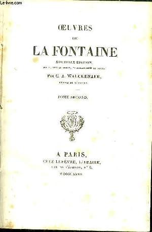 OEUVRES DE LA FONTAINE - TOME 2: WALCKENAER C.A.