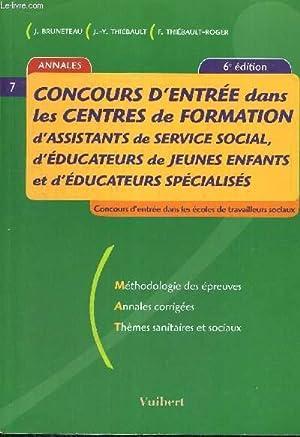 CONCOURS D'ENTREE DANS LES CENTRES DE FORMATION D'ASSISTANTS DE SERVICE SOCIAL, D'...