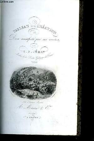 TABLEAU DE LA CREATION OU DIEU MANIFESTE PAR SES OEUVRES - TOME 2 - coll. « Bibliothè...