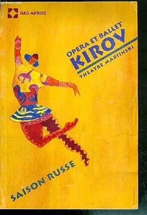 OPERA ET BALLET KIROV - THEATRE MARIINSKI: COLLECTIF