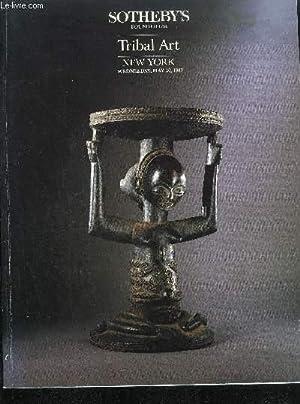 CATALOGUE DE VENTE AUX ENCHERES / TRIBAL ART - NEW YORK - WEDNESDAY, MAY 20, 1987 - SOTHEBY&#...