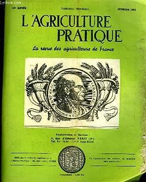L'AGRICULTURE PRATIQUE - FEVRIER 1952 - L'avenir du marché de la viande demande ...