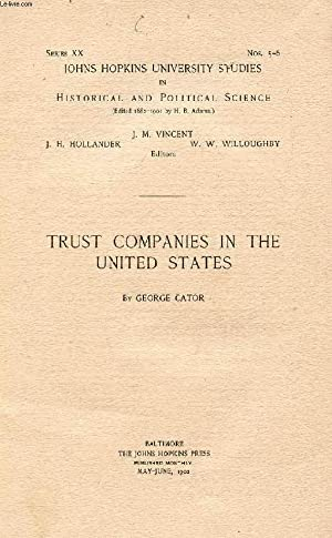 TRUST COMPANIES IN THE UNITED STATES: CATOR GEORGE
