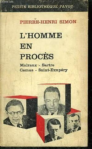 L'HOMME EN PROCES: SIMON PIERRE-HENRI