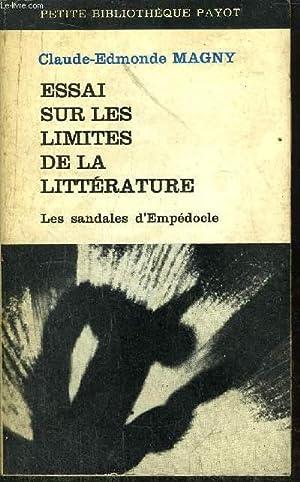 ESSAI SUR LES LIMITES DE LA LITTERATURE: MAGNY Claude Edmond