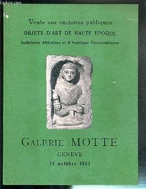CATALOGUE DE VENTE AUX ENCHERES - OBJETS D'ART DE HAUTE EPOQUE - SCULPTURES AFRICAINES ET D&#...