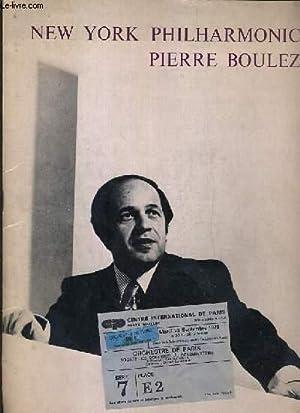 NEW YORK PHILHARMONIC - FESTIVAL D'AUTOMNE A PARIS - FESTIVAL ESTIVAL DE PARIS - JEUDI 18 ...
