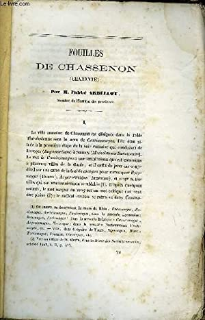 BULLETIN MONUMENTAL 3e SERIE TOME 8, 28e VOLUME N°4 - FOUILLES DE CHASSENON PAR L'ABBE ...