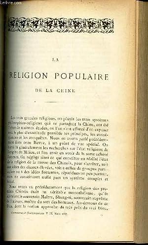 LA RELIGION POPULAIRE DE LA CHINE.: DE HARLEZ C