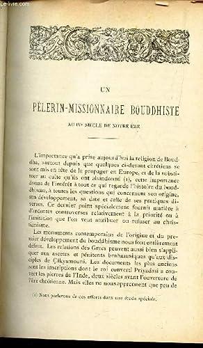 UN PELERIN-MISSIONNAIRE BOUDDHISTE au IVe siecle de notre Ere / Les chretiens sous les ...