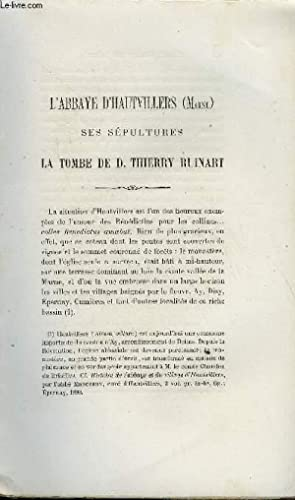 BULLETIN MONUMENTAL 6e SERIE, TOME DEUXIEME N°3 - L'ABBAYE D'HAUTEVILLIERS, SES SEPULTURES ...