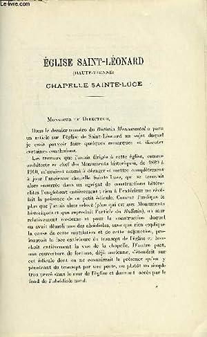 BULLETIN MONUMENTAL 86e VOLUME DE LA COLLECTION N°1-2 - EGLISE SAINT-LEONARD (HAUTE-VIENNE), ...