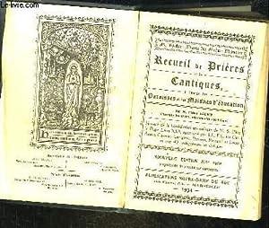 RECUEIL DE PRIERES ET DE CANTIQUES A: SAURIN ABBE