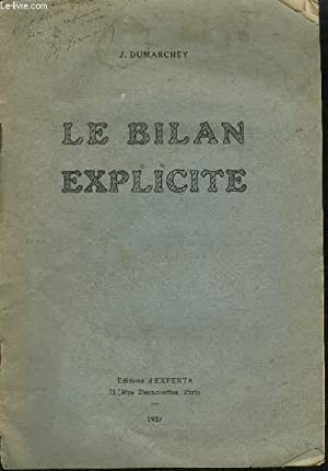 LE BILAN EXPLICITE: DUMARCHEY J.
