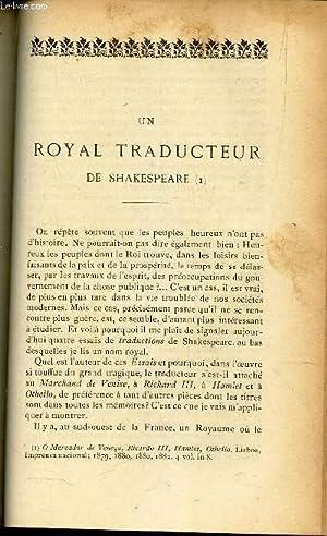 Un royal traducteur de Shakespeare par James: COLLECTIF