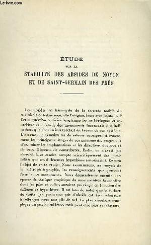 BULLETIN MONUMENTAL 89e VOLUME DE LA COLLECTION N°5-6 - ETUDE SUR LA STABILITE DES ABSIDERS DE ...