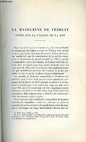 BULLETIN MONUMENTAL 99e VOLUME DE LA COLLECTION N°2, 3, 4 - LA MADELEINE DE VEZELAY - NOTES SUR LA ...