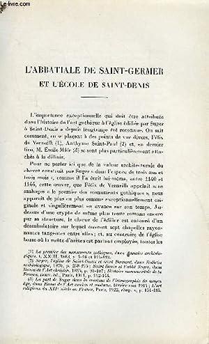 BULLETIN MONUMENTAL 100e VOLUME DE LA COLLECTION N°1 ET 2 - L'ABBATIALE DE SAINT-GERMER ET L&...