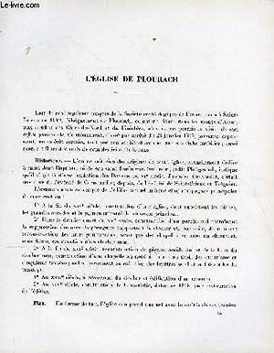 BULLETIN MONUMENTAL 113e VOLUME DE LA COLLECTION N°3 - L'EGLISE DE PLOURACH PAR RENE COUFFON: ...
