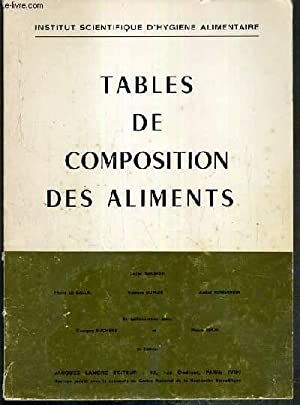 Tables de composition des aliments abebooks - Table de composition des aliments simplifiee ...