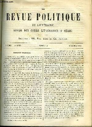 LA REVUE POLITIQUE ET LITTERAIRE 4e ANNEE - 1er SEMESTRE N°14 - HOMMES POLITIQUES CONTEMPORAINS...