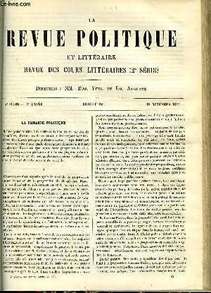 LA REVUE POLITIQUE ET LITTERAIRE 4e ANNEE - 1er SEMESTRE N°22 - UNE NOUVELLE EDITION D'...