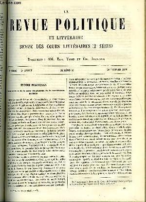 LA REVUE POLITIQUE ET LITTERAIRE 5e ANNEE - 2e SEMESTRE N°35 - LA CONSTITUTION DU 25 FEVRIER ...