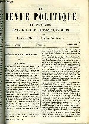 LA REVUE POLITIQUE ET LITTERAIRE 5e ANNEE - 2e SEMESTRE N°43 - HELLENISTES FRANCAIS CONTEMPORAINS ...