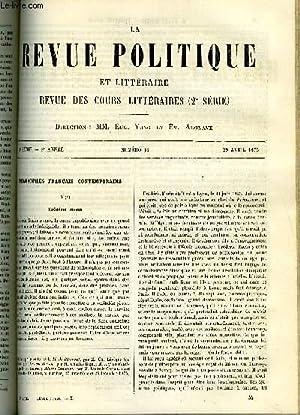 LA REVUE POLITIQUE ET LITTERAIRE 5e ANNEE - 2e SEMESTRE N°44 - FREDERIC MORIN PAR JULES SIMON, ...