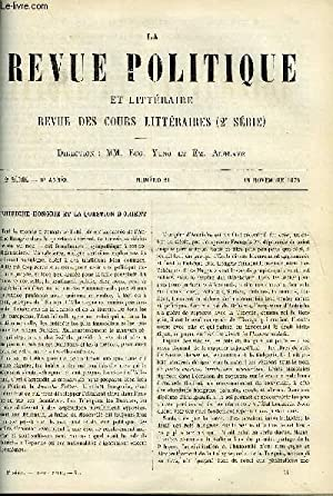 LA REVUE POLITIQUE ET LITTERAIRE 6e ANNEE - 1er SEMESTRE N°21 - L'AUTRICHE-HONGRIE ET LA ...