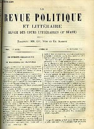 LA REVUE POLITIQUE ET LITTERAIRE 7e ANNEE - 1er SEMESTRE N°12 - LES INTERETS CONSERVATEURS ET ...