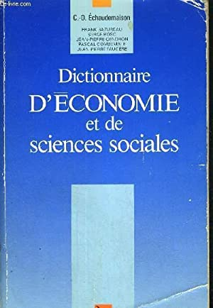DICTIONNAIRE D'ECONOMIE ET DE SIENCES SOCIALES: ECHAUDEMAISON C.-D.