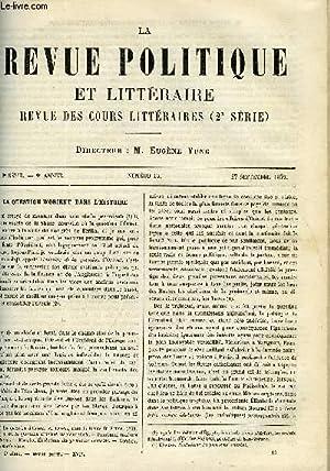 LA REVUE POLITIQUE ET LITTERAIRE 9e ANNEE - 1er SEMESTRE N°13 - LA QUESTION D'ORIENT DANS ...