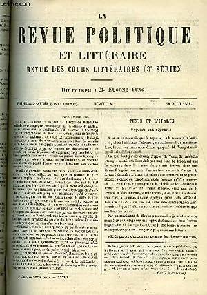 LA REVUE POLITIQUE ET LITTERAIRE 1er ANNEE - 2e SEMESTRE N°8 - TUNIS ET L'ITALIE PAR ...