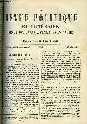 LA REVUE POLITIQUE ET LITTERAIRE 1er ANNEE - 2e SEMESTRE N°9 - LES ELECTIONS DE 1881 PAR JOSEPH...