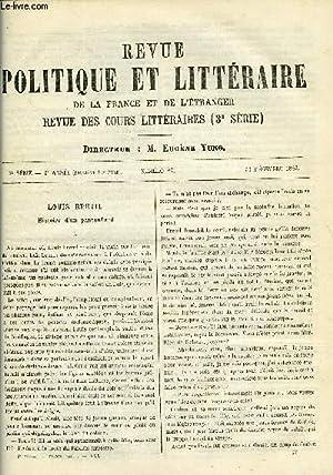LA REVUE POLITIQUE ET LITTERAIRE 2e ANNEE - 2e SEMESTRE N°27 - HISTOIRE D'UN PANTOUFLARD ...