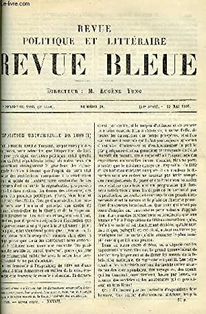 LA REVUE POLITIQUE ET LITTERAIRE 6e ANNEE - 1er SEMESTRE N°20 - L'EXPOSITION UNIVERSELLE ...