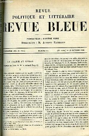 LA REVUE POLITIQUE ET LITTERAIRE 8e ANNEE - 2e SEMESTRE N°15 - LA FRANCE AU SOUDAN PAR X***, MA...