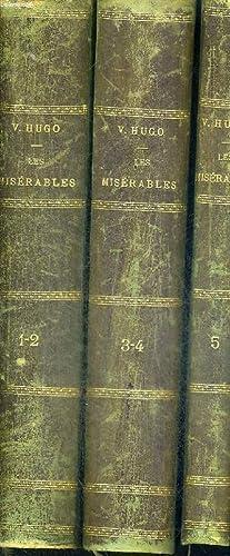 LES MISERABLES - 3 VOLUMES - TOMES: HUGO VICTOR