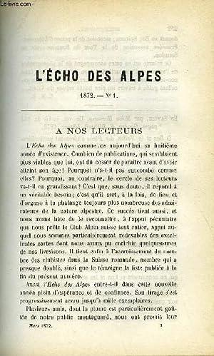 L'ECHO DES ALPES - PUBLICATION DES SECTIONS: GEISENDORF LOUIS, CRAMER,
