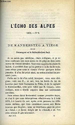 L'ECHO DES ALPES - PUBLICATION DES SECTIONS: LOMBARD A, BRAUN