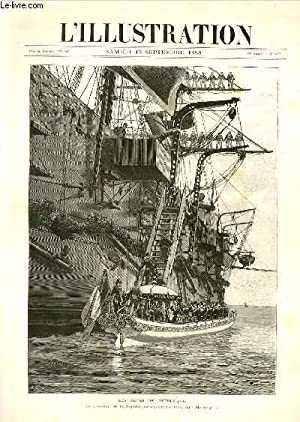 L'ILLUSTRATION JOURNAL UNIVERSEL N° 2377 -* Gravures: les fetes de Cherbourg, le president...