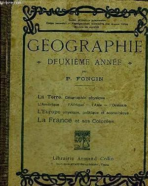 GEOGRAPHIE - DEUXIEME ANNEE - LA TERRE: FONCIN P.