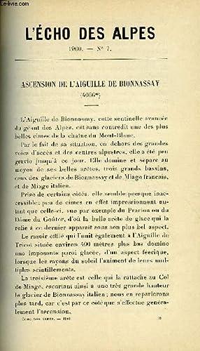 L'ECHO DES ALPES - PUBLICATION DES SECTIONS ROMANDES DU CLUB ALPIN SUISSE N°7 - ASCENSION ...